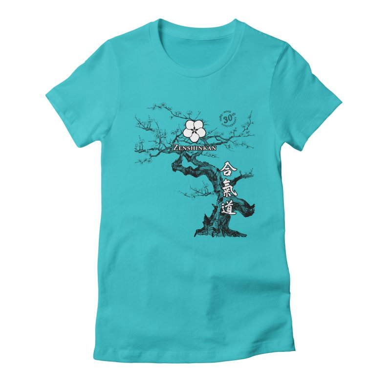 Zenshinkan's 30th Anniversary Print Women's Fitted T-Shirt by Zenshinkan's Shop