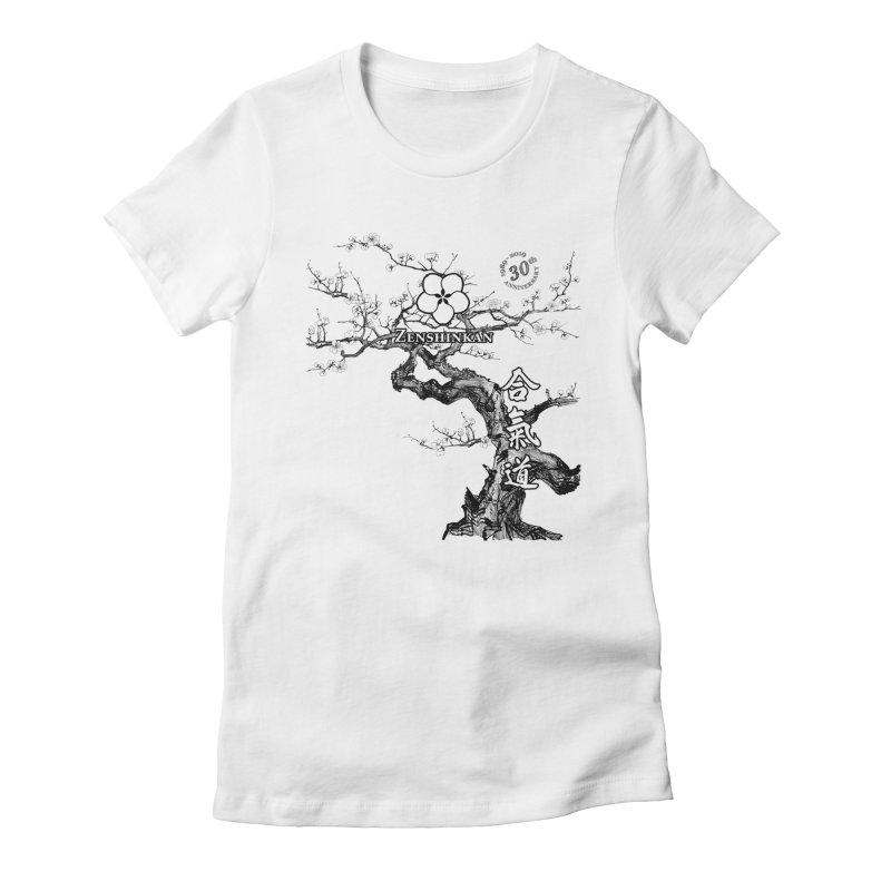 Zenshinkan's 30th Anniversary Print Women's Fitted T-Shirt by Zenshinkan's Shop