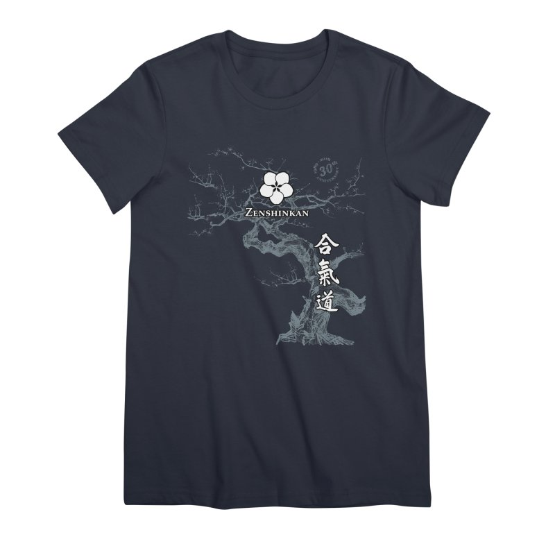 Zenshinkan's 30th Anniversary Print (dark) Women's Premium T-Shirt by Zenshinkan's Shop
