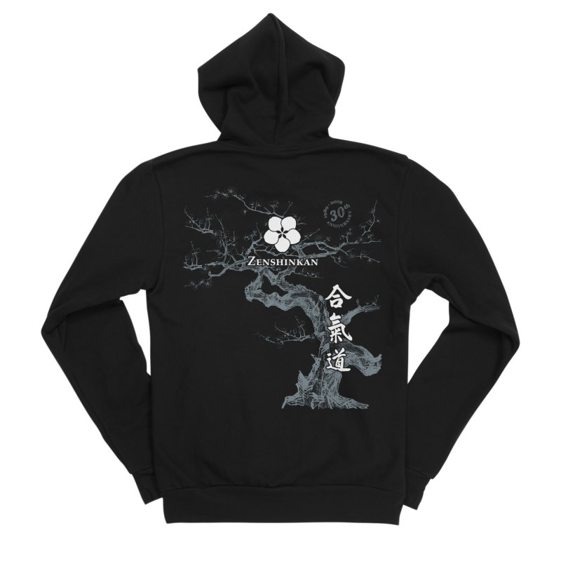 Zenshinkan's 30th Anniversary Print (dark) Women's Zip-Up Hoody by Zenshinkan's Shop