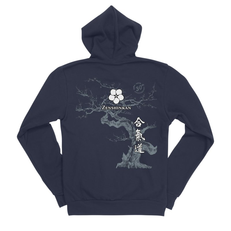 Zenshinkan's 30th Anniversary Print (dark) Men's Sponge Fleece Zip-Up Hoody by Zenshinkan's Shop