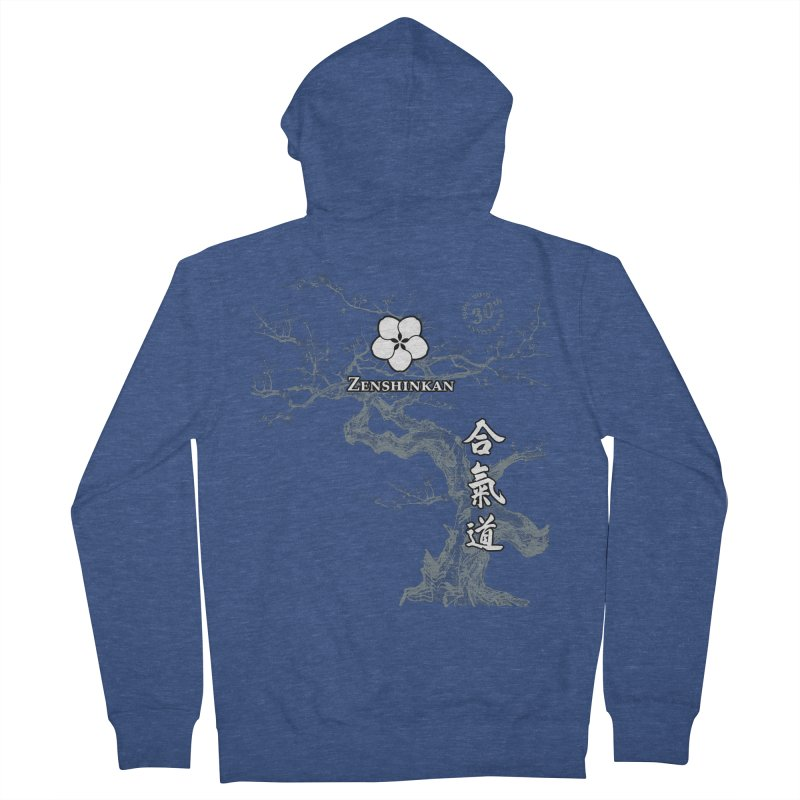 Zenshinkan's 30th Anniversary Print (dark) Women's French Terry Zip-Up Hoody by Zenshinkan's Shop