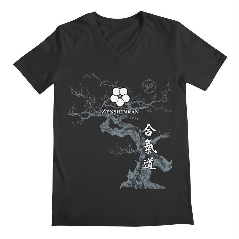 Zenshinkan's 30th Anniversary Print (dark) Men's Regular V-Neck by Zenshinkan's Shop