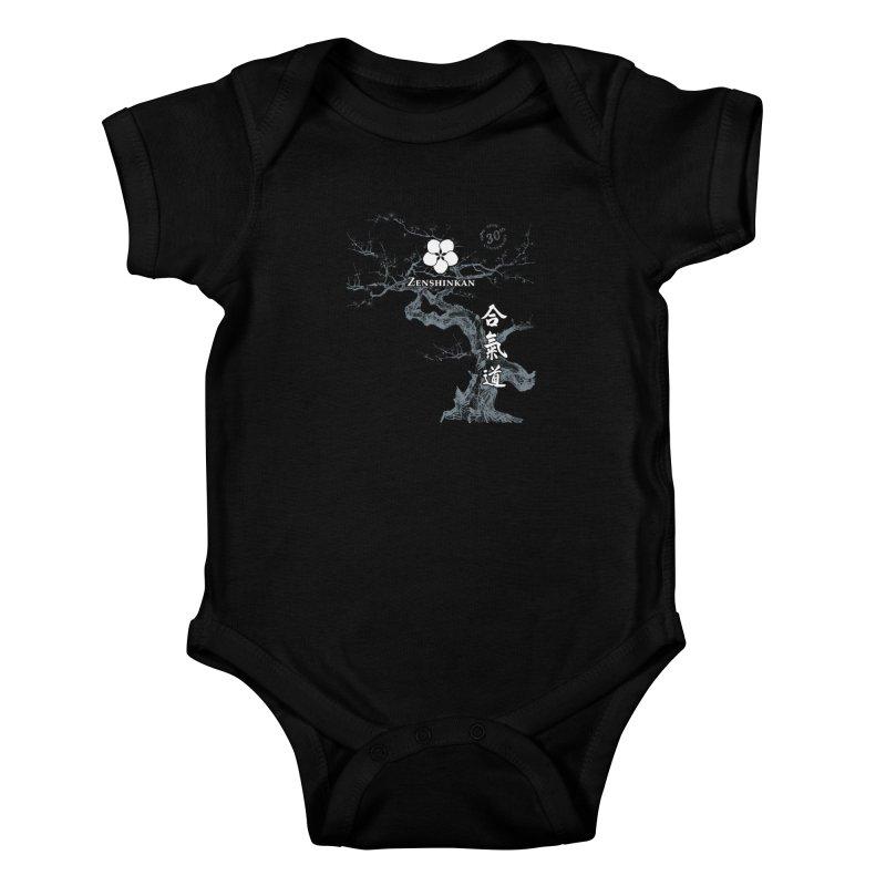 Zenshinkan's 30th Anniversary Print (dark) Kids Baby Bodysuit by Zenshinkan's Shop