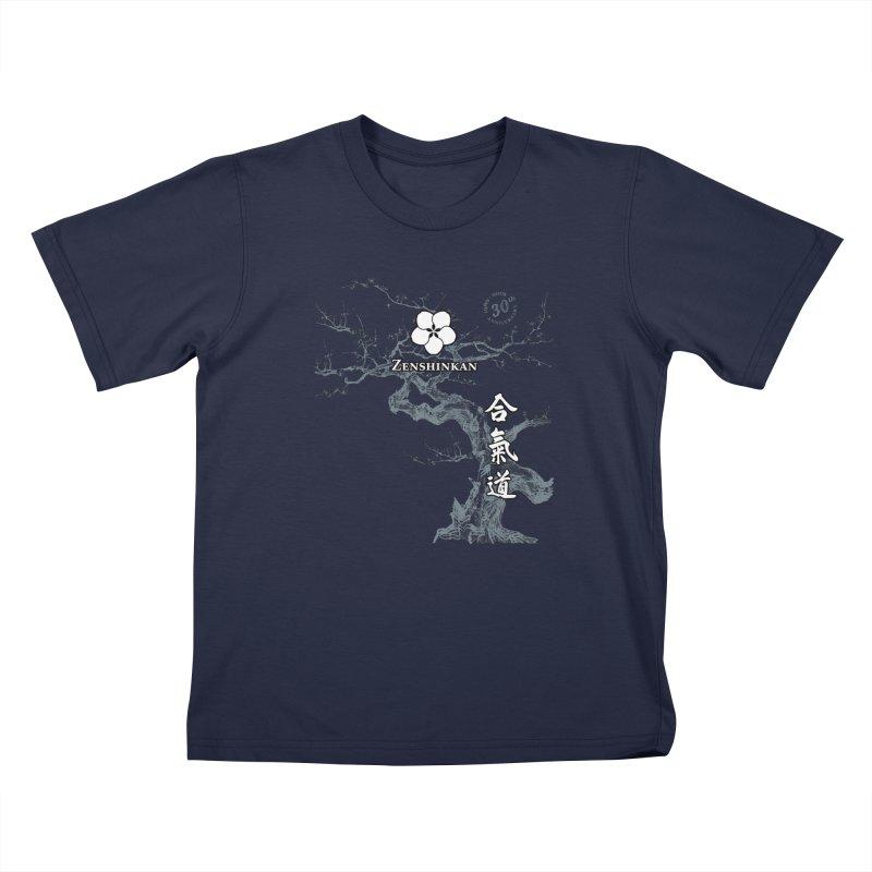 Zenshinkan's 30th Anniversary Print (dark) Kids T-Shirt by Zenshinkan's Shop