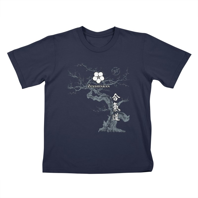Zenshinkan's 30th Anniversary Print (dark) Kids T-Shirt by Zenshinkan's Shop