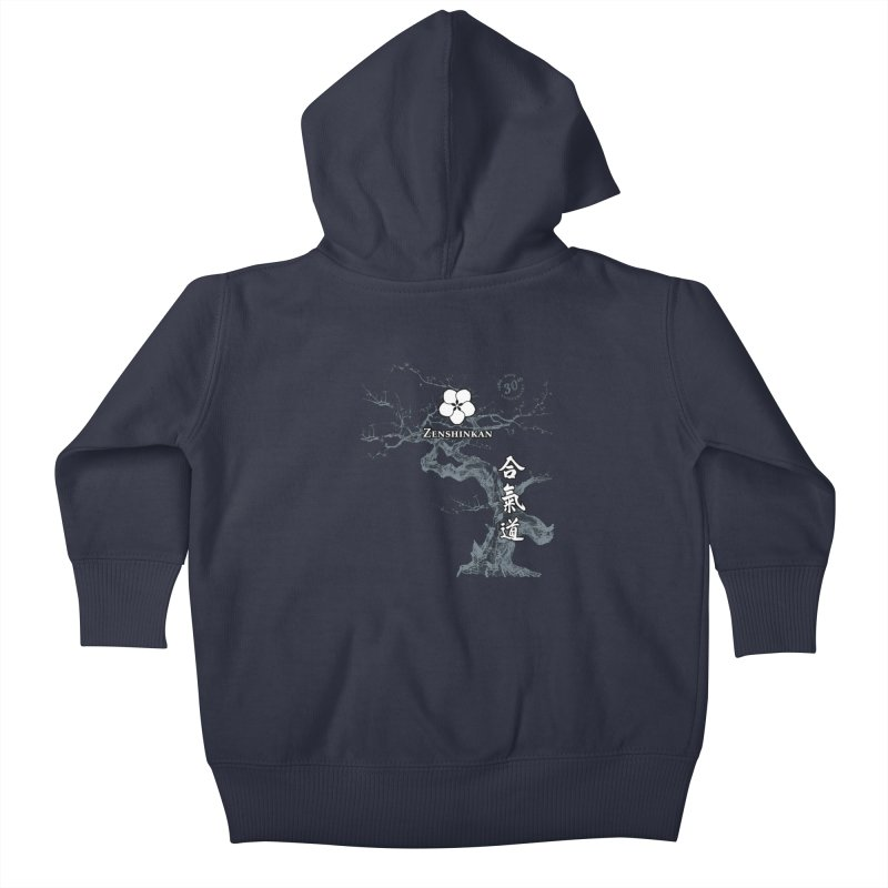 Zenshinkan's 30th Anniversary Print (dark) Kids Baby Zip-Up Hoody by Zenshinkan's Shop