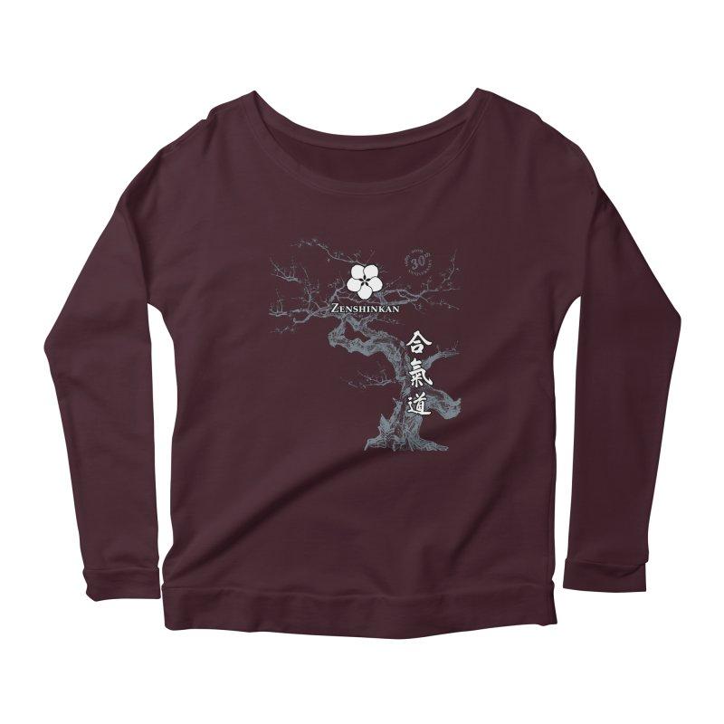 Zenshinkan's 30th Anniversary Print (dark) Women's Scoop Neck Longsleeve T-Shirt by Zenshinkan's Shop
