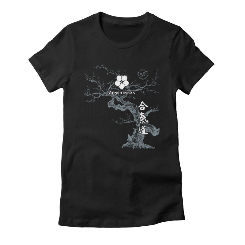 Zenshinkan's 30th Anniversary Print (dark) Women's Fitted T-Shirt by Zenshinkan's Shop
