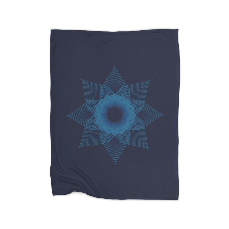 Zen Lotus I Home Fleece Blanket Blanket by Zen the Machine