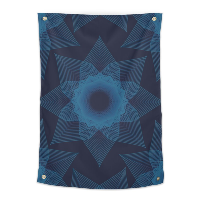 Zen Lotus I Home Tapestry by Zen the Machine