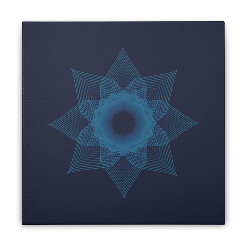 Zen Lotus I Home Stretched Canvas by Zen the Machine