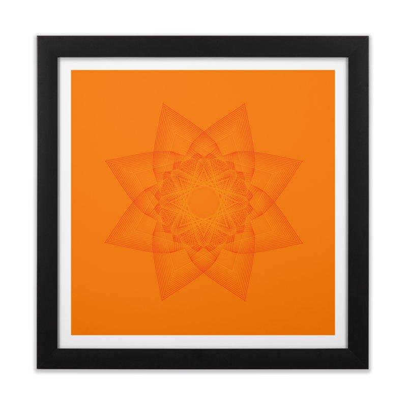 Zen Lotus II Home Framed Fine Art Print by Zen the Machine