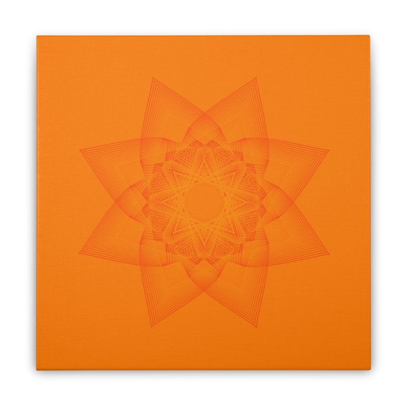 Zen Lotus II Home Stretched Canvas by Zen the Machine