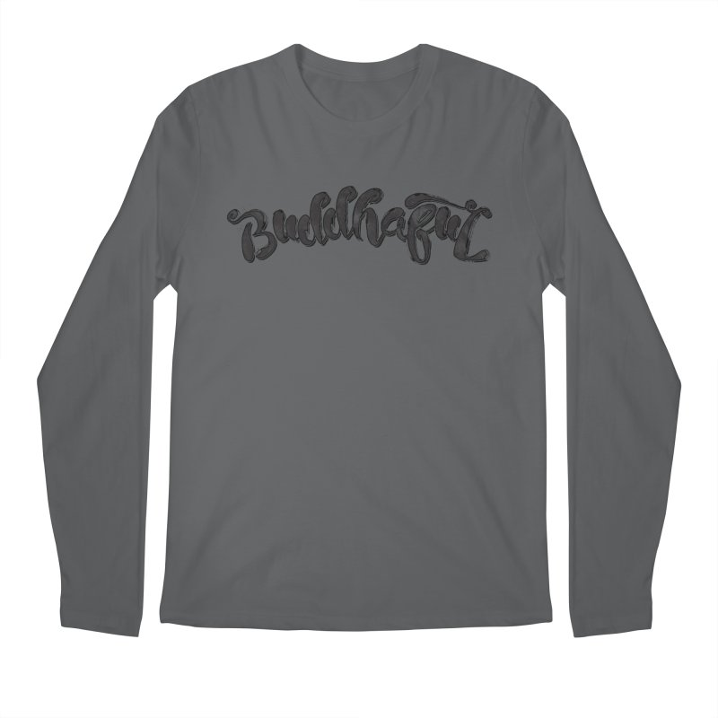 Buddhaful–Back in Black Edition Men's Longsleeve T-Shirt by Zen the Machine
