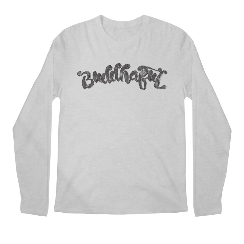 Buddhaful–Back in Black Edition Men's Regular Longsleeve T-Shirt by Zen the Machine