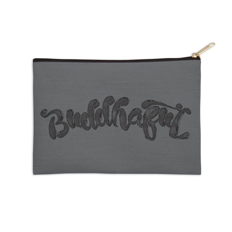 Buddhaful–Back in Black Edition Accessories Zip Pouch by Zen the Machine