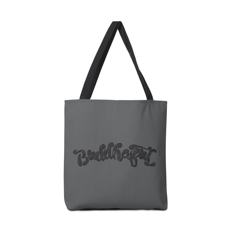 Buddhaful–Back in Black Edition Accessories Bag by Zen the Machine