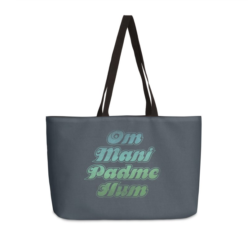 Om Mani Padme Hum–English Accessories Bag by Zen the Machine