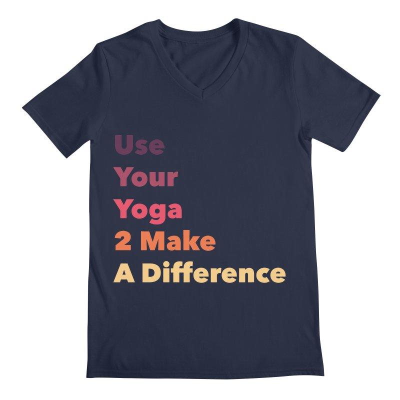 Karma Yoga Men's V-Neck by zenyogagarage's Artist Shop