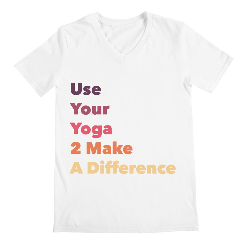 Karma Yoga Men's V-Neck by zenyogagarage's Artist Shop
