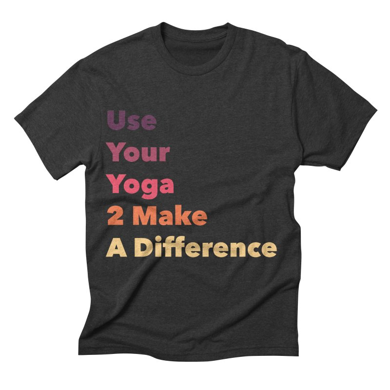 Karma Yoga Men's Triblend T-shirt by zenyogagarage's Artist Shop