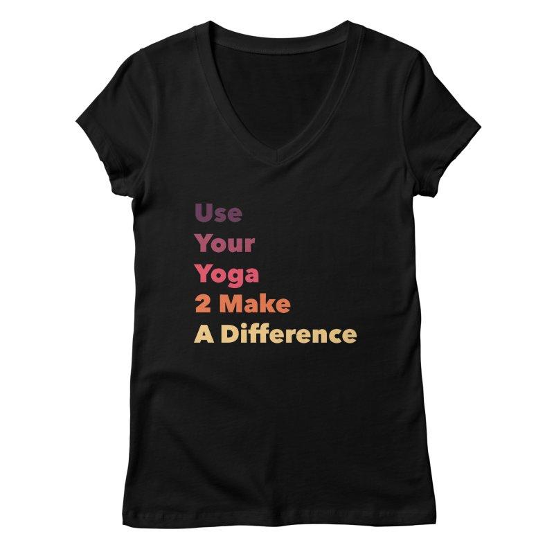 Karma Yoga Women's V-Neck by zenyogagarage's Artist Shop