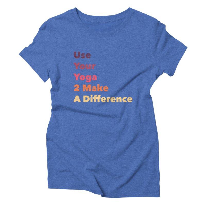 Karma Yoga Women's Triblend T-shirt by zenyogagarage's Artist Shop