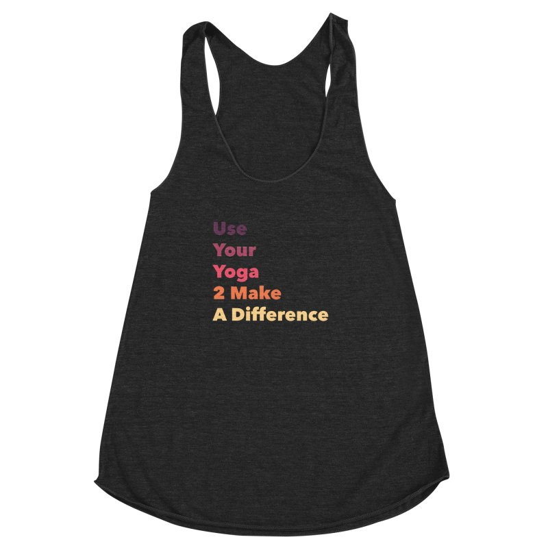 Karma Yoga Women's Racerback Triblend Tank by zenyogagarage's Artist Shop