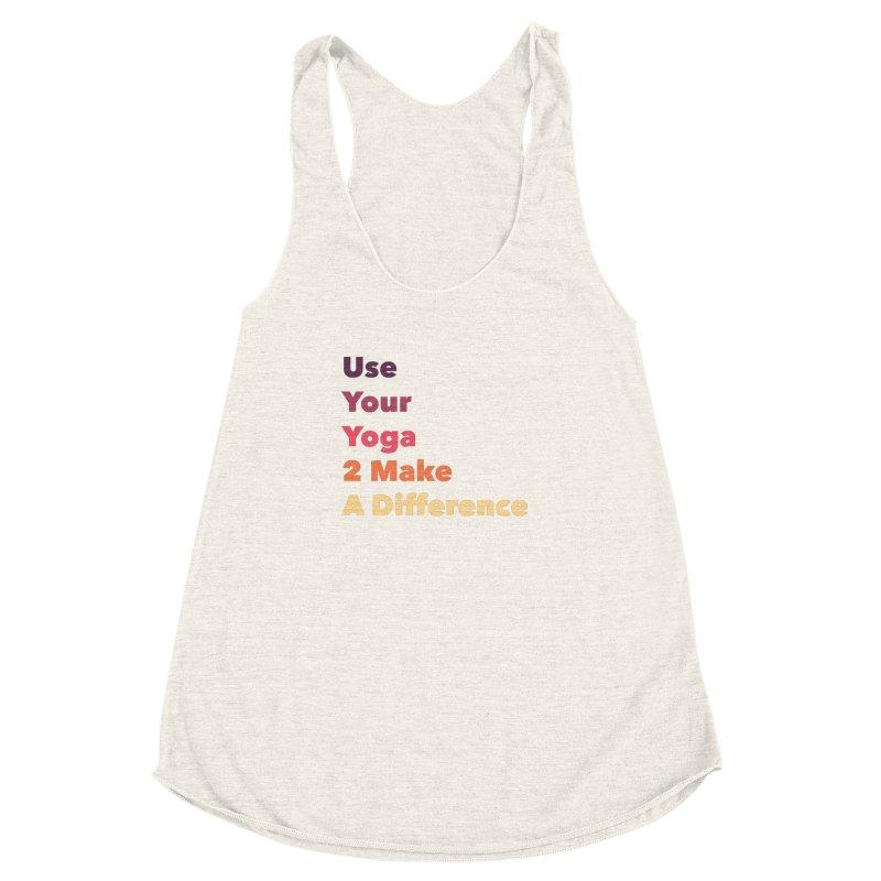 Karma Yoga Women's Racerback Triblend Tank by zenyogagarage's Artist Shop