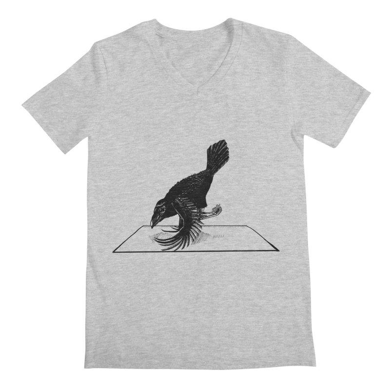 Crow Pose Men's V-Neck by zenyogagarage's Artist Shop