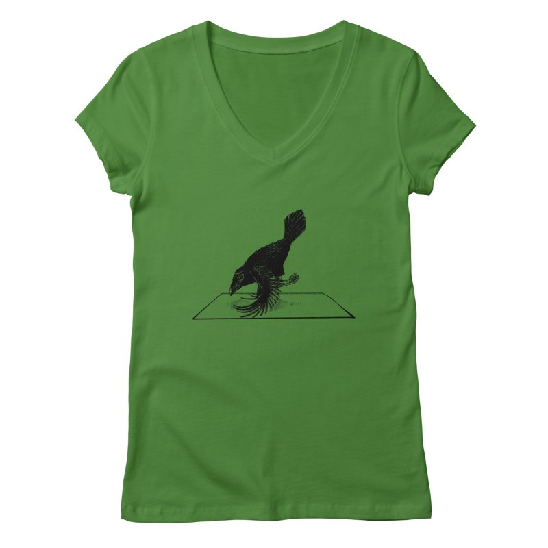 Crow Pose Women's V-Neck by zenyogagarage's Artist Shop
