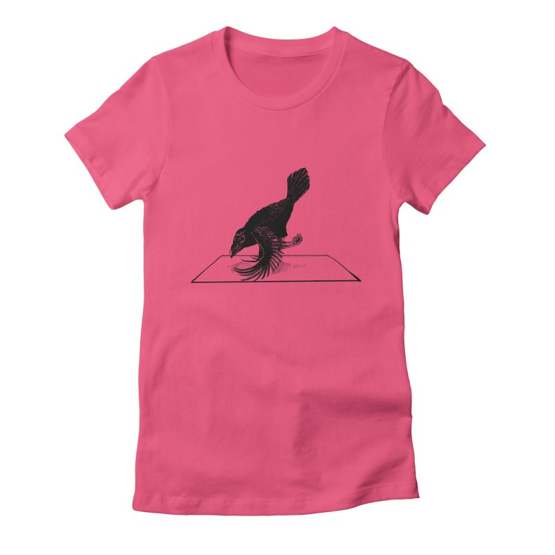 Crow Pose Women's Fitted T-Shirt by zenyogagarage's Artist Shop