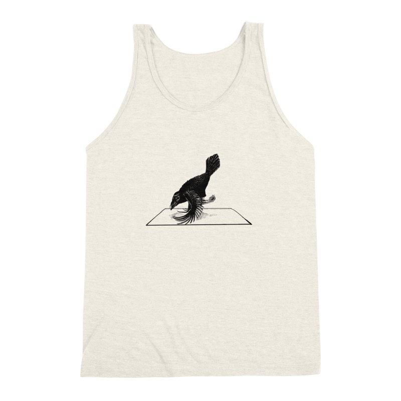 Crow Pose Men's Triblend Tank by zenyogagarage's Artist Shop