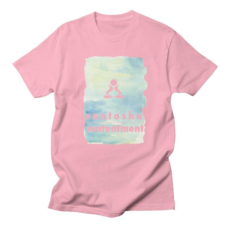 Be Content. Men's Regular T-Shirt by zenyogagarage's Artist Shop