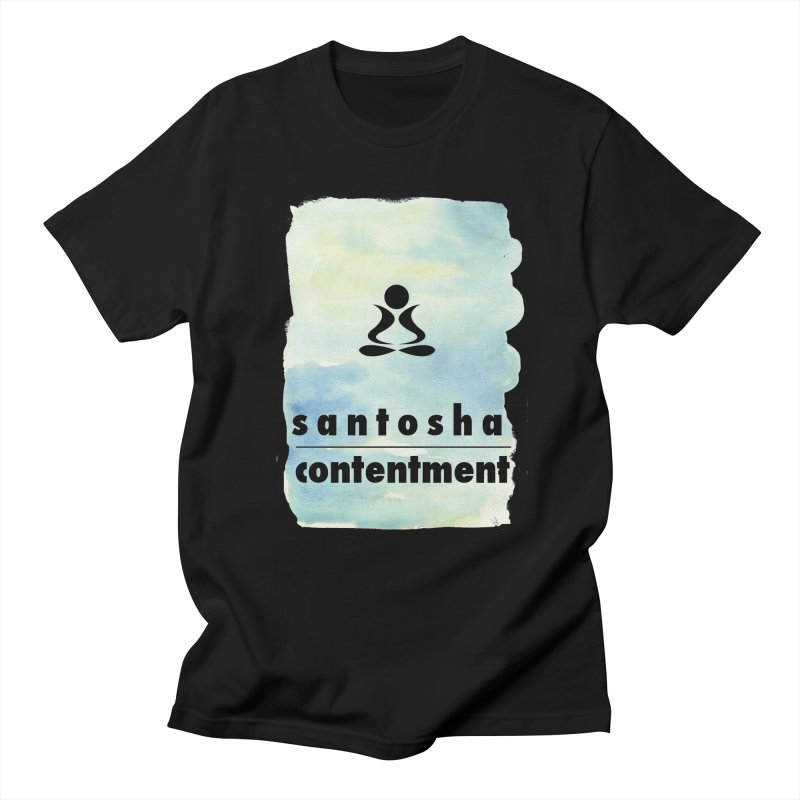 Be Content.  Men's T-Shirt by zenyogagarage's Artist Shop