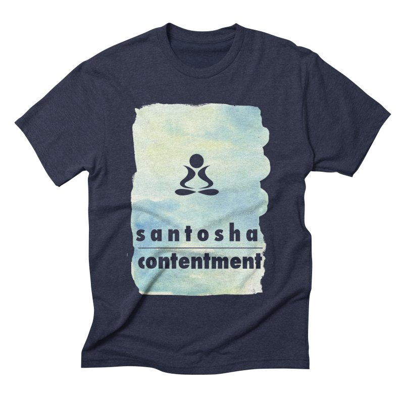 Be Content.  Men's Triblend T-shirt by zenyogagarage's Artist Shop