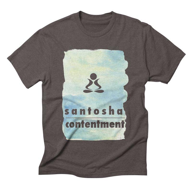 Be Content.  Men's Triblend T-shirt by zenyogagarage's Artist Shop