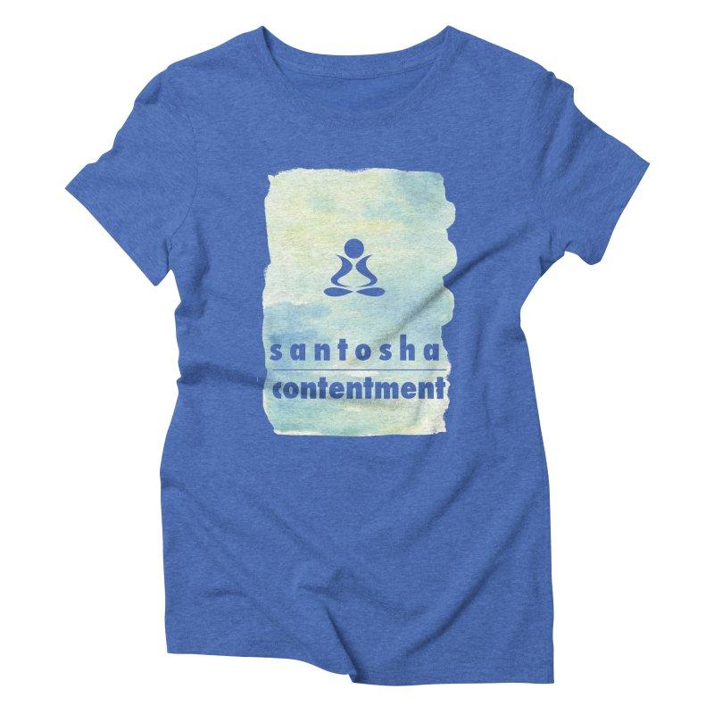 Be Content.  Women's Triblend T-shirt by zenyogagarage's Artist Shop
