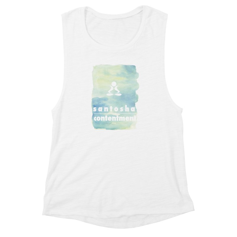 Be Content.  Women's Muscle Tank by zenyogagarage's Artist Shop