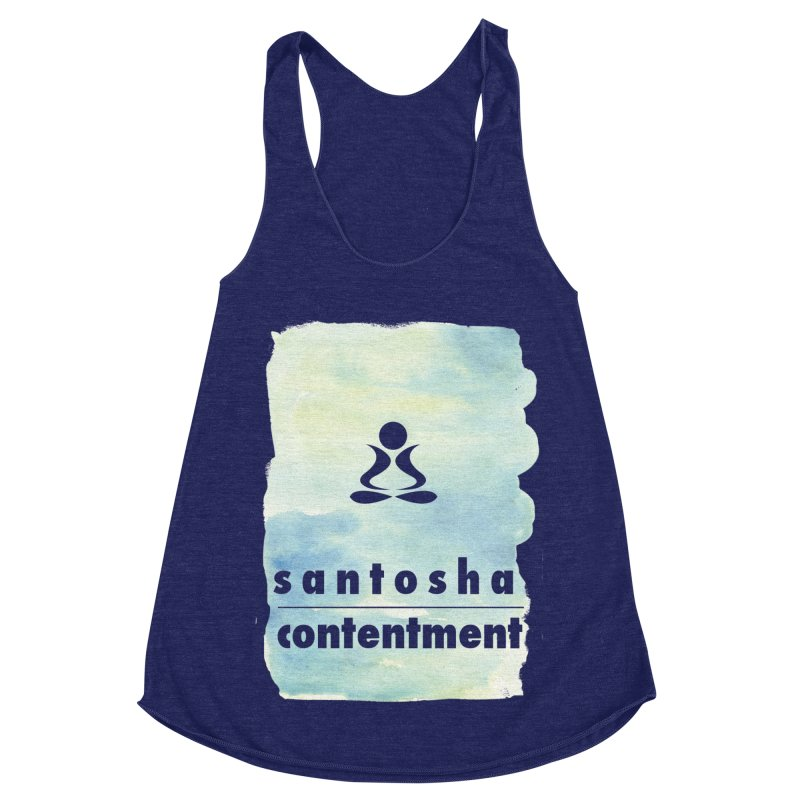 Be Content. Women's Racerback Triblend Tank by zenyogagarage's Artist Shop