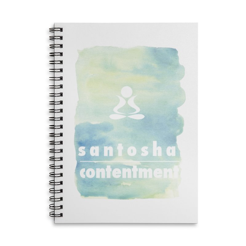 Be Content. Accessories Lined Spiral Notebook by zenyogagarage's Artist Shop