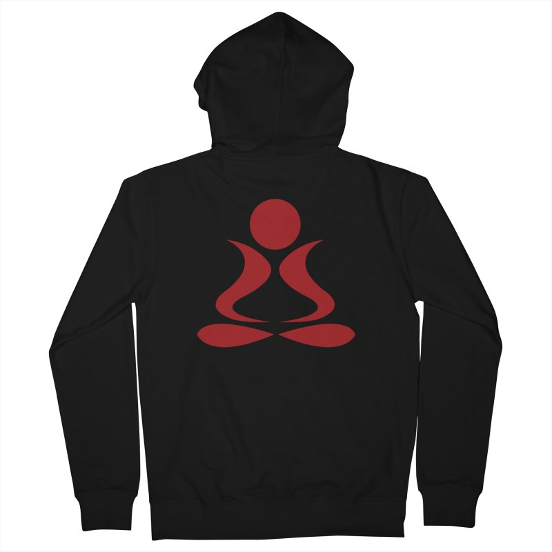 ZYG Buddha Men's French Terry Zip-Up Hoody by zenyogagarage's Artist Shop