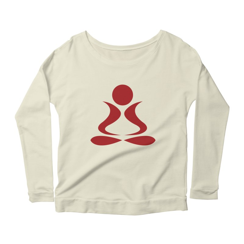 ZYG Buddha in Women's Longsleeve Scoopneck  Natural by zenyogagarage's Artist Shop