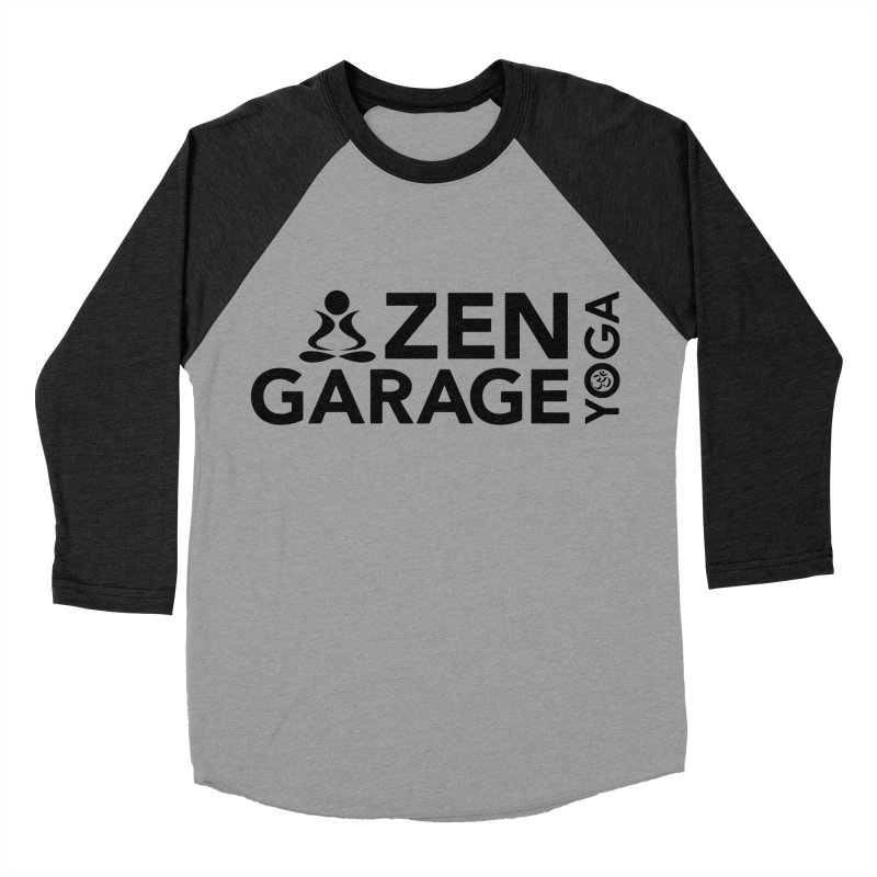 ZYG logo black Women's Baseball Triblend T-Shirt by zenyogagarage's Artist Shop