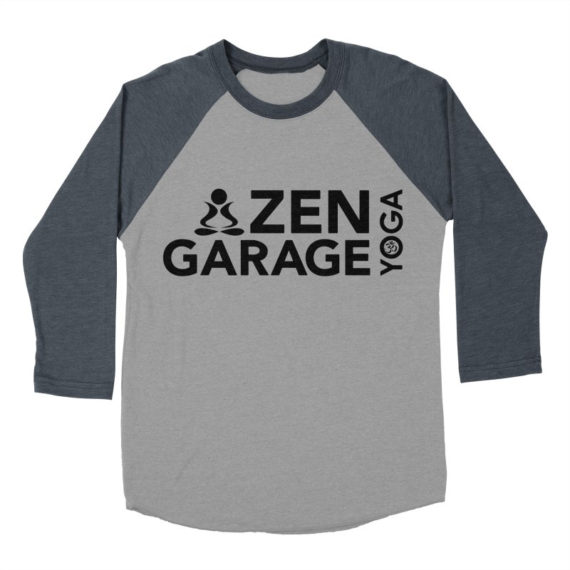 ZYG logo black Women's Baseball Triblend Longsleeve T-Shirt by zenyogagarage's Artist Shop