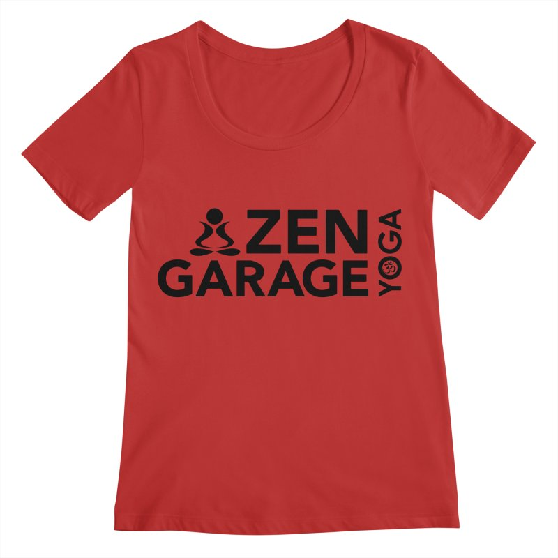 ZYG logo black Women's Regular Scoop Neck by zenyogagarage's Artist Shop