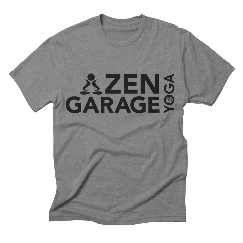 ZYG logo black Men's Triblend T-shirt by zenyogagarage's Artist Shop