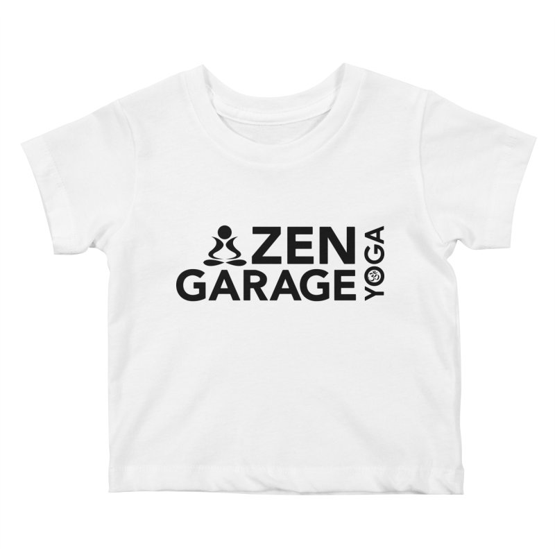 ZYG logo black Kids Baby T-Shirt by zenyogagarage's Artist Shop