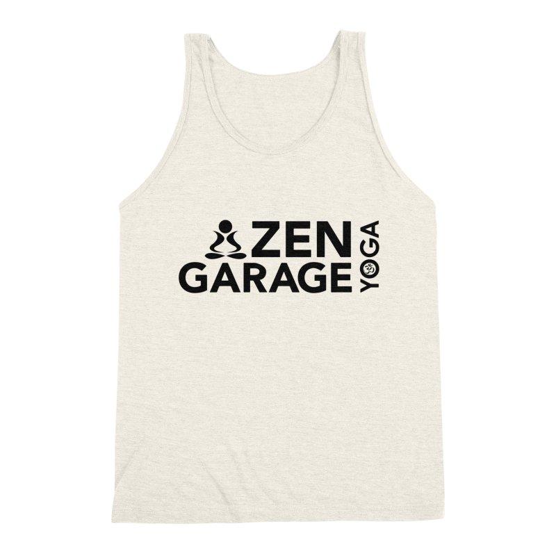ZYG logo black Men's Triblend Tank by zenyogagarage's Artist Shop